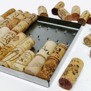 ecodesign, bakus trivet, onderzetter van kurken, origineel relatiegeschenk, wijngeschenk, kerstpakket, wijncadeau