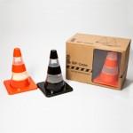 peper- en zoutstel Verkeerspionnen, Labyrinth traffic cones, origineel kerstgeschenk, relatiegeschenk bouw