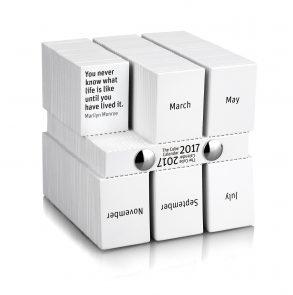the cube calendar 2019