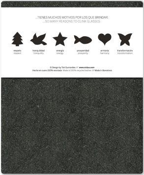 glasmarkers, recycled leer, relatiegeschenk ecologisch, glass markers, drink markers, relatiegeschenk kerst